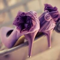 Orchid bridal shoes