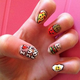 Chic Junk Food Nail Design
