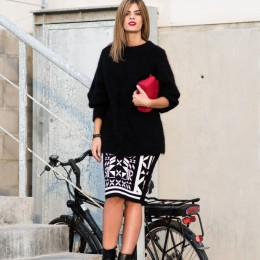Fashionable Office Attire with Skirt