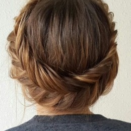 Gorgeous Fishtail Braided Updo