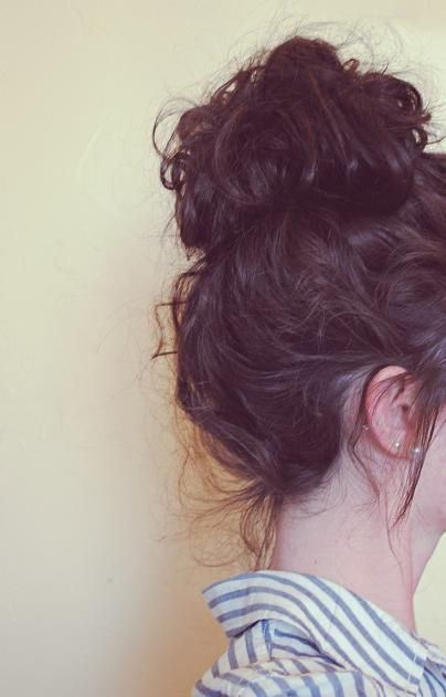 Lovely Curly Top Knot for Teenage Girls