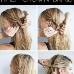 Pretty Braided Half Updo Hairstyle Tutorial