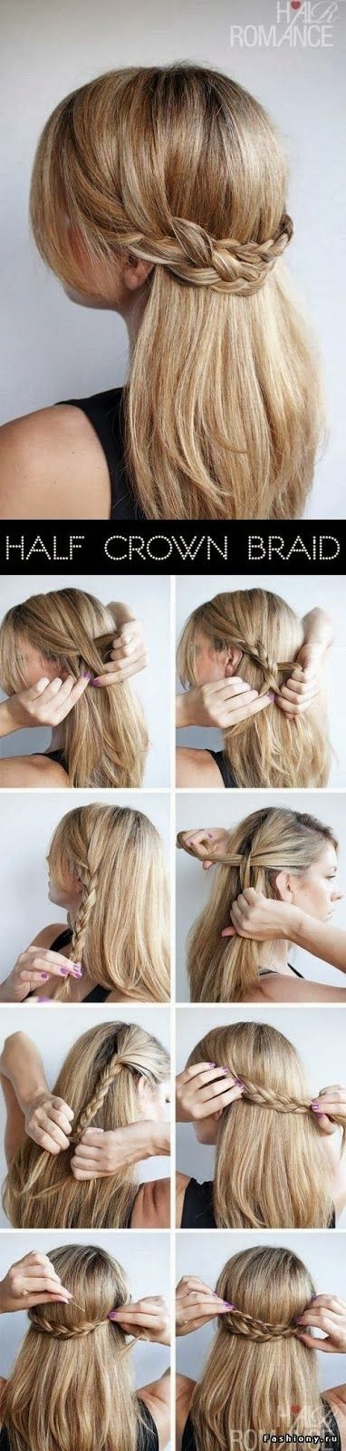 Pretty Braided Half Updo Hairstyle Tutorial
