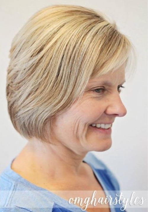 Simple Short Haircut for Women Over 50