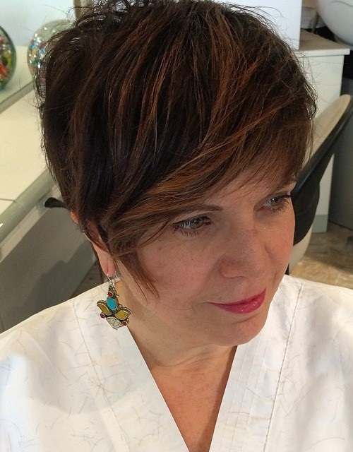 Trendy Cropped Haircut for Mature Women