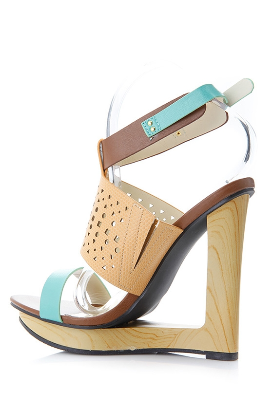 architectural shoes in wood, leather