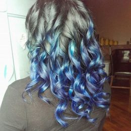 Blue Ombre Hairstyle
