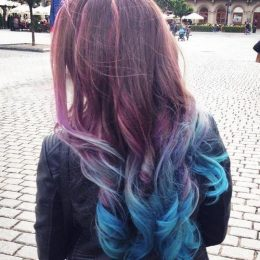 Sassy Purple Highlighted Hairstyles for Girls