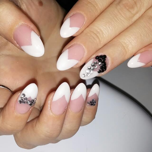 50 Amazing French Manicure Designs - Cute French Nail Arts