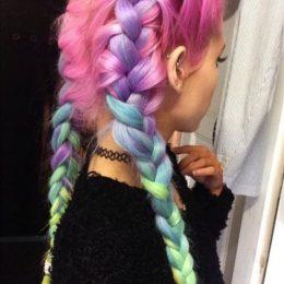 10 Gorgeous Rainbow Hairstyles
