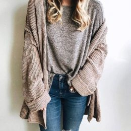 How to Style a Slouchy Cardigan